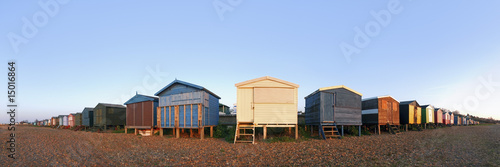 Beach huts on beach