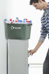 Man Recycling
