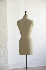 Mannequin indoors, back view