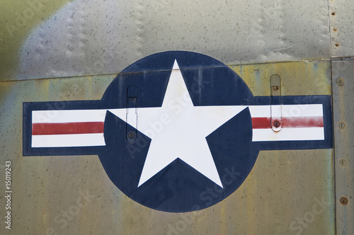 close up of U.S. airforce symbol.