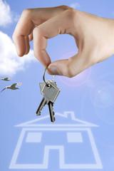 Traum vom Eigenheim mit Schlüsseln