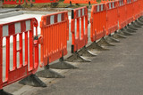 temporary plastic roadwork barriers poster