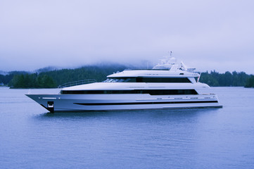 Luxury Yacht in Clayoquot Sound UNESCO Biosphere Reserve