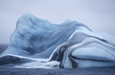 Antarctica, Scotia Sea, iceberg in water
