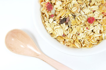 Muesli Breakfast In A Bowl or Cup
