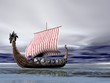 Viking Ship at Sea - 15033696