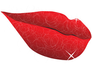 Abstract Lips of a woman