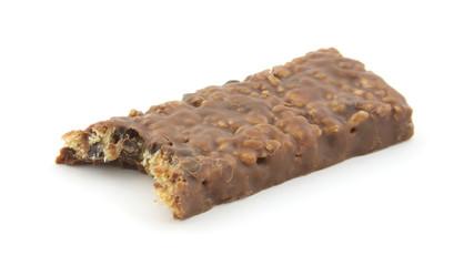 Bitten fudge dipped granola bar