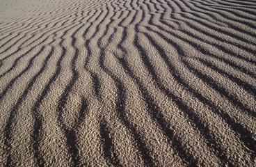 usa new mexico white sands national park rippled sand dune