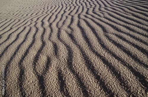 usa new mexico white sands national park rippled sand dune
