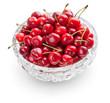 Cherries in crystal bowl