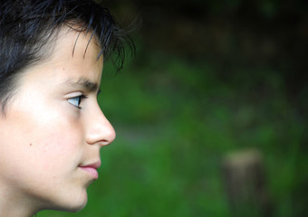 profile of a young boy