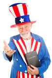 Uncle Sam With Bible - Welcoming poster