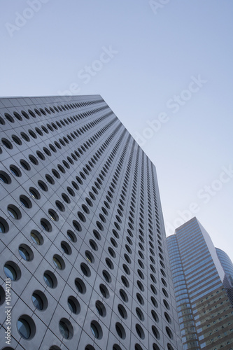 China, Hong Kong, low angle view of skyscrapers