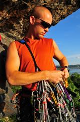 rock climbing gear