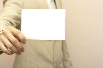 Advertise blank card