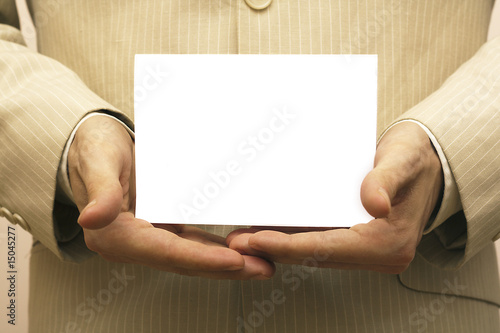Advertise blank card
