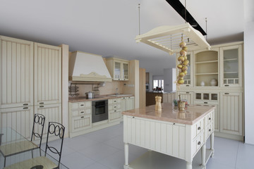 Kitchen in contemporary furniture store