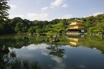 Japan, Kyoto, Kinkaku-ji Golden Pavilion Temple