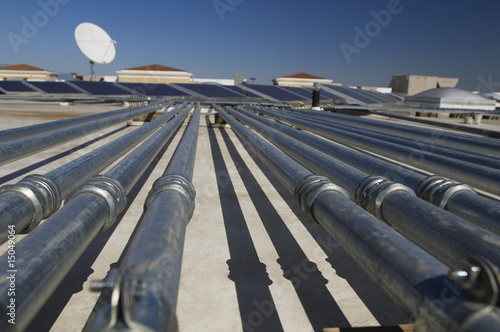 Pipes at Solar Power Plant