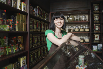 Salesperson in Tea Shop