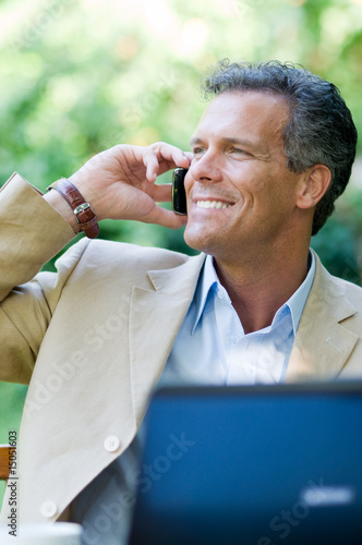 Businessman on the phone outdoor