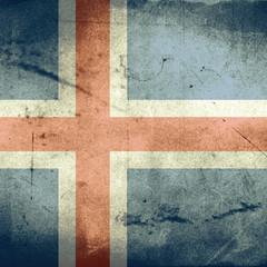 grunge flag of iceland