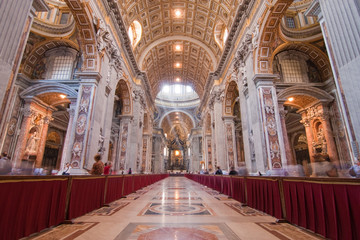 Wide view of St. Pietro Basilic