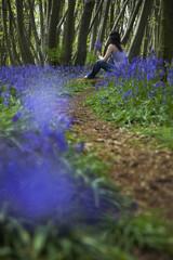 Woman Picking Wildflowers