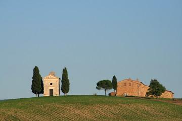 Himmel über der Toskana, Zypressen, val d Orcia, Italien