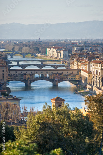 Panoramic view of Florence and Ponte Vecchio. t-shirt