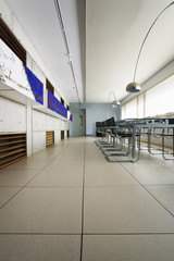 dining area in modern building
