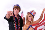 Uncle Sam and young lady poster