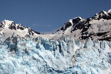 Glacier and Snow capped Mountain, Alaska
