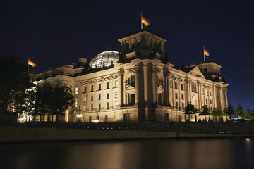 berlin reichstag at night