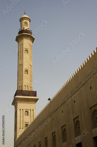 dubai uae minaret of grand mosque in bur dubai