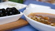 vegetable soup with beans, feta and olives