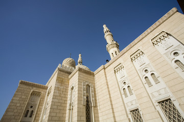 UAE, Dubai, The Jumeirah Mosque, the only mosque which non-Muslims are permitted to visit
