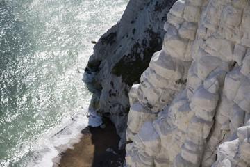 Cliff by seaside