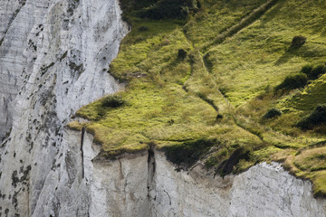 Steep cliff