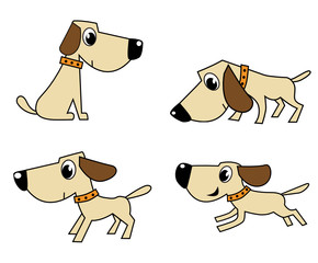 vector dog set