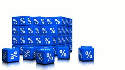 Percents symbols as cubes