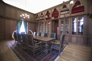 Old-fashioned home library