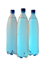 Bottles with cool water