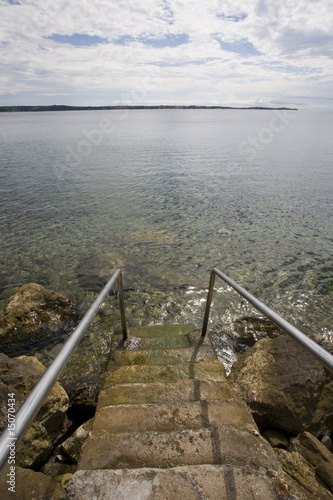 stairway to the ocean in piran