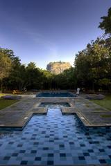 Sigiriya, Lion rock with pool, Sri Lanka