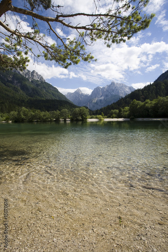 vrsic pass in the julian alps slovenia