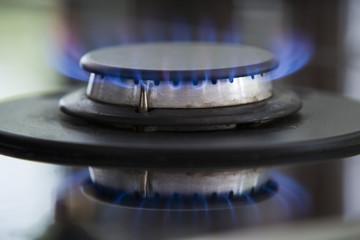 Close-up view of burner