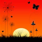 mystic sunset poster