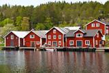 Fototapety Bootshäuser in Schweden